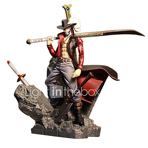 Anime Action Figures Inspired by One Piece Dracula Mihawk PVC 15 CM Model Toys Doll Toy