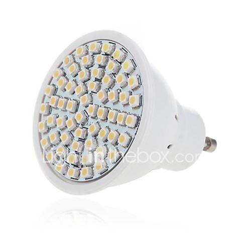 GU10 7W 640LM Pure White 16 SMD 5630 LED Light Bulbs Lamps 85-265V