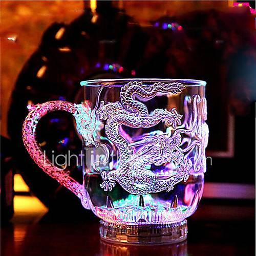 1PC Colorful Color Creative Pub KTV Switch Flash Glass Mugs Led Lamp Night Light LED Drinkware