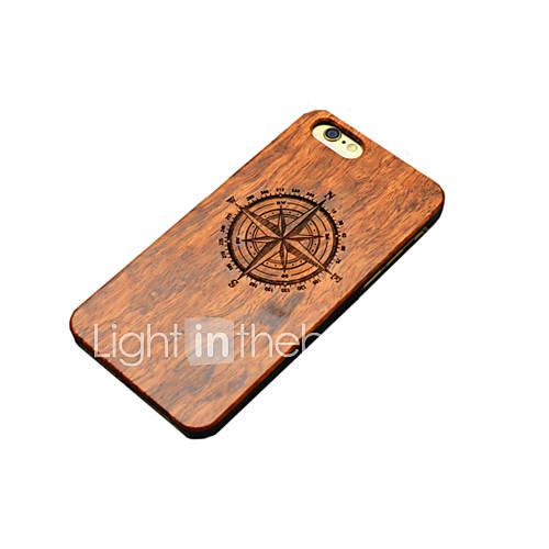 Case For iPhone 5 iPhone 5 Case Pattern Embossed Back Cover Cartoon Hard Wooden for iPhone SE/5s iPhone 5