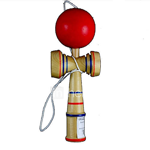 Classic Aftertaste Kendama Puzzle Game Toy - Wood  Red