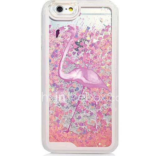 Flamingo Back Flowing Quicksand Liquid/Printing Pattern PC Hard Case Cover For iPhone 6s Plus/6 Plus/6s/6/SE/5s/5