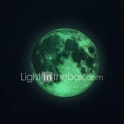 Luminous Wall Stickers Wall Decals Style Moon PVC Wall Stickers