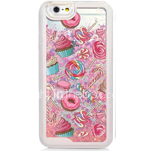 Snacks Back Flowing Quicksand Liquid/Printing Pattern PC Hard Case Cover For iPhone 6s Plus/6 Plus/6s/6/SE/5s/5