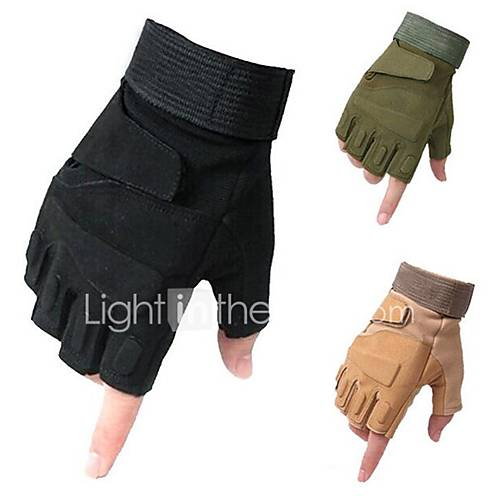 Outdoor Gloves Tactical Gloves Mountain Bike Riding Sport Semi Finger Motorcycle Gloves