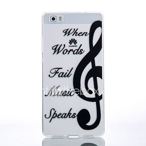 Case For Huawei P9 / Huawei P9 Lite / Huawei P9 Lite / P9 / P8 Lite Transparent / Pattern Back Cover Word / Phrase Soft TPU for Huawei P9 Lite / Huawei P9 / Huawei P8 Lite