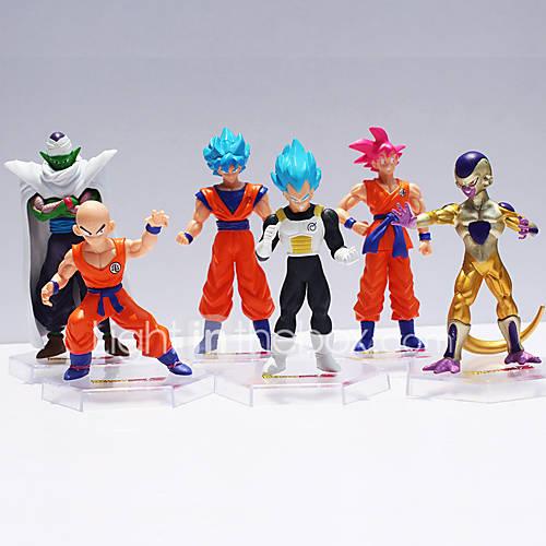 Dragon Ball 6 Super Saiyan  of the Resurrection of Son Goku Anime Action Figures Model Toy