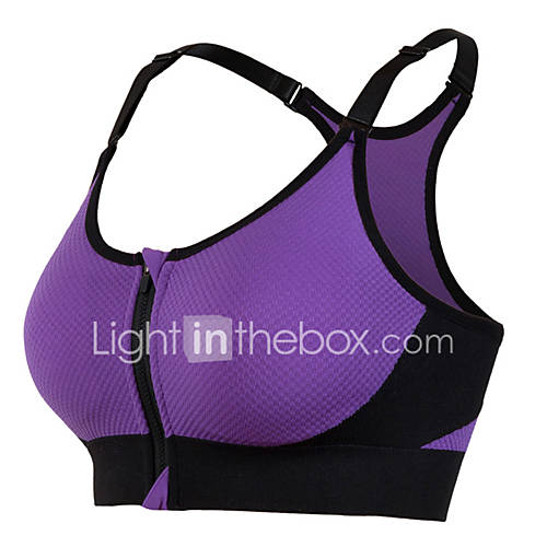 Women Front Zipper Yoga Bra Gym Fitness Soutien Gorge Tank Padded Push Up Running Bra For Girls Breathable Sports Top