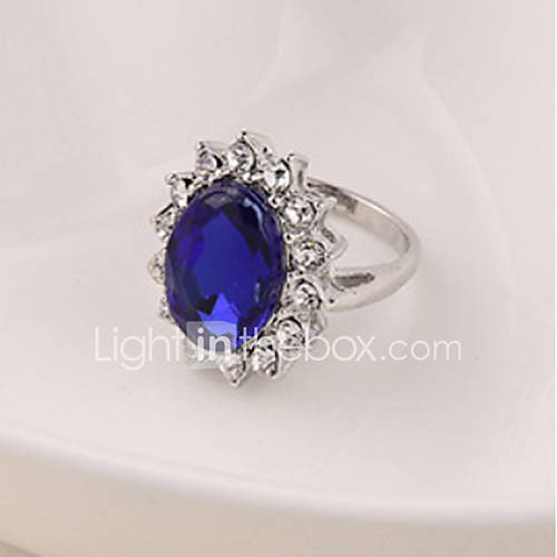 Women's Statement Ring Silver Zircon Alloy Fashion Wedding Party Anniversary Birthday Gift Costume Jewelry