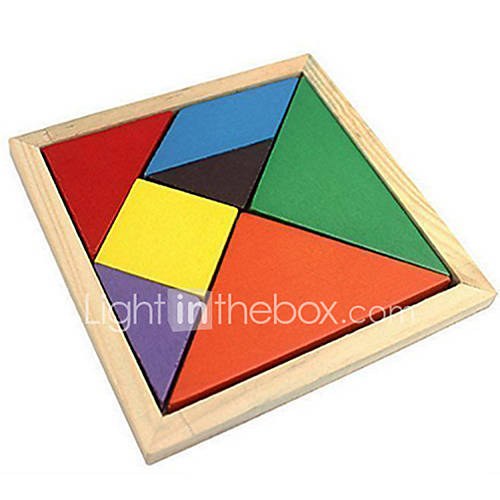 Tangram Jigsaw Puzzle Wooden Puzzles Educational Toy Toys Colorful Classic Wood Boys' Girls' 7 Pieces