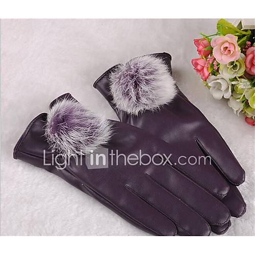 Lady Rabbit Ball Full Touch Screen Warm Winter Riding Bicycle Motorcycle Sunscreen Fitness Gloves