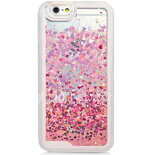 Heart Back Flowing Quicksand Liquid/Printing Pattern PC Hard Case Cover For iPhone 6s Plus/6 Plus/6s/6/SE/5s/5