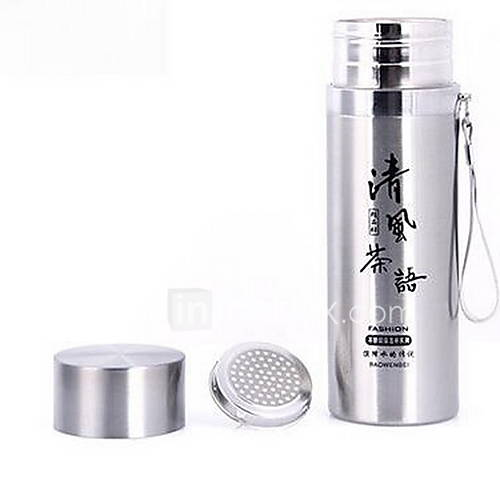 Insulation Pot Stainless Steel Office Mug Simple Portable Bilayer Cup