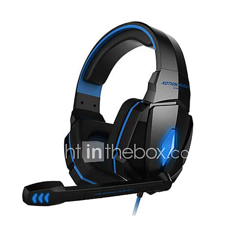 KOTION EACH G4000 Over Ear / Headband Wired Headphones Plastic Gaming Earphone Noise-isolating Headset