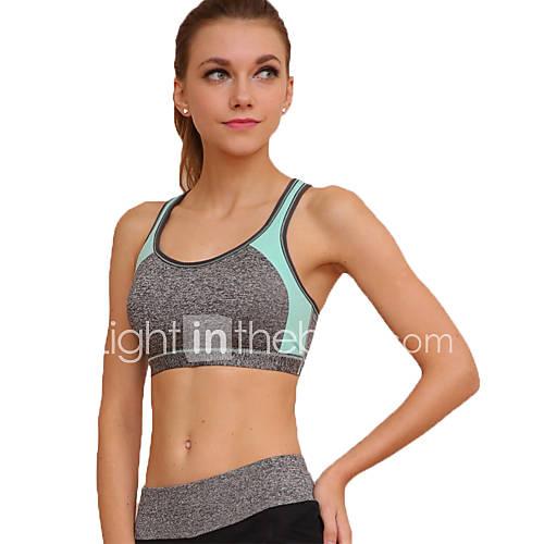 Women's Sexy Sports Bra Wireless Patchwork Underwear Fitness Running Yoga Tops