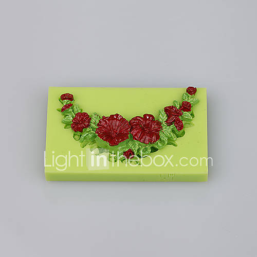 Rose peony flower shape various silicone cake mold for cup cake fondant cake candy decoration tools