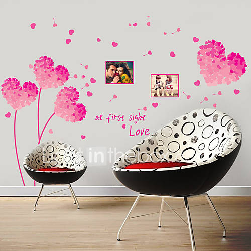 Wall Stickers Wall Decals Style Super Romantic PVC Wall Stickers