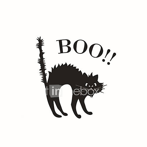 Wall Stickers Wall Decals Style Halloween Thriller Cat PVC Wall Stickers