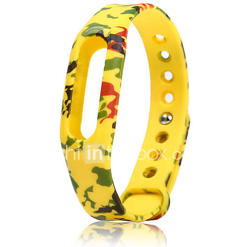 Camouflage pattern Band Rubber Wristwatch ...