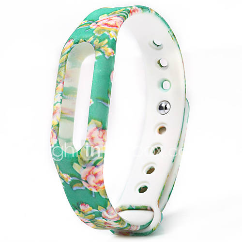 Colorful Floral Pattern Strap Rubber ...