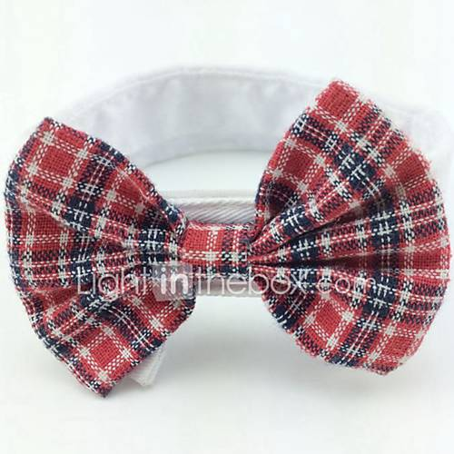 Cat Dog Tie/Bow Tie Dog Clothes Summer Spring/Fall Bowknot Cute Birthday Wedding Christmas Rose Red Black/Red Black/White Red/White