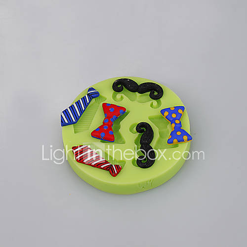 kitchen accessories Men's tie shape silicone cake mold decoration baking cups Color Random