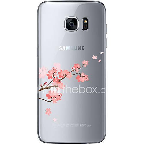 Pour Samsung Galaxy S7 Edge Motif Coque Coque Arrière Coque Fleur Flexible PUT pour Samsung S7 edge S7 S6 edge plus S6 edge S6