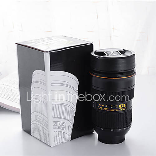 Travel Bottle  Camera Lens Stainless Steel Cup Travel Storage / Travel Drink  Eat Ware Stainless Steel