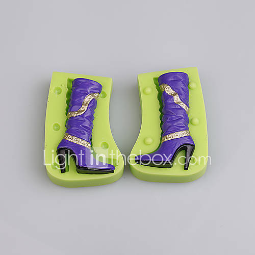 Silicone chocolate mould high heels shape cake mold silicone candy biscuit molds mould