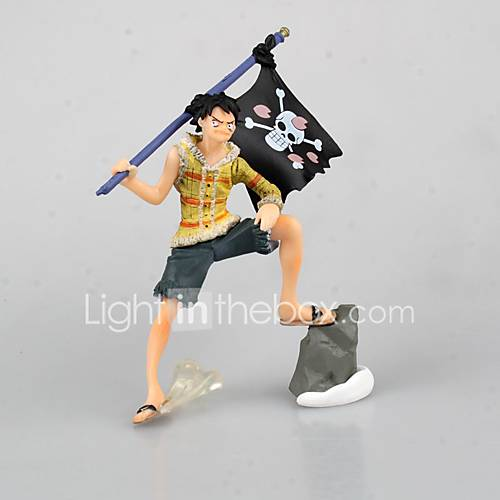 One Piece Storry Monkey D. Luffy PVC 9cm Anime Action Figures Model Toys Doll Toy  Yellow