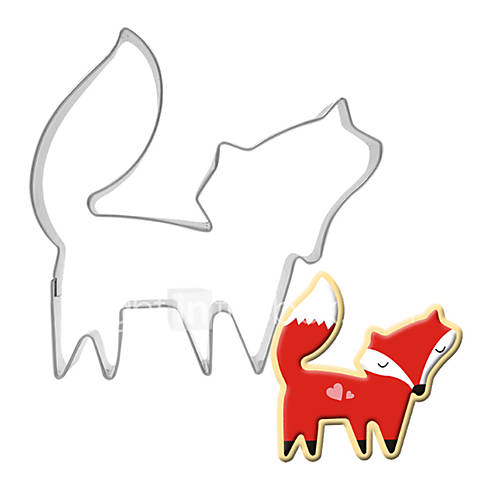 Fox Shape Cake Cookie Biscuit Baking Molds Stainless Steel  Cookie Biscuit Pastry  Dough Cutters