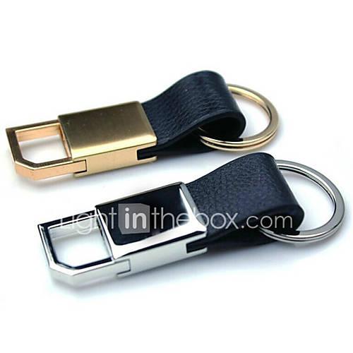 Men And Women Car Key Ring Leather Metal Key Ring