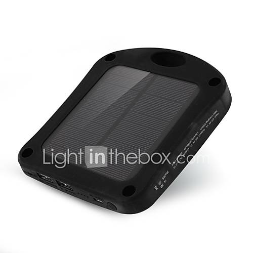SUNWALK 6000mAh 2 in 1 Window Solar Charger Power Bank with Suction Cup  LED Sensor Lights for Mobile Phone