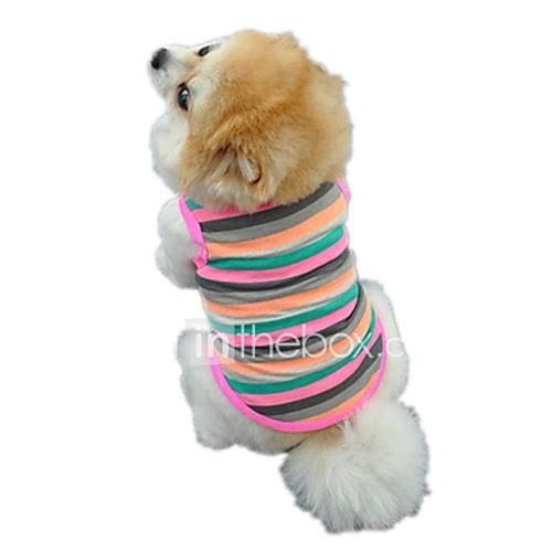 Gatos Perros Camiseta Chaleco Ropa para Perro Invierno Verano Primavera/Otoño RayasAdorable Casual/Diario Deportes Cumpleaños Vacaciones Descuento en Miniinthebox