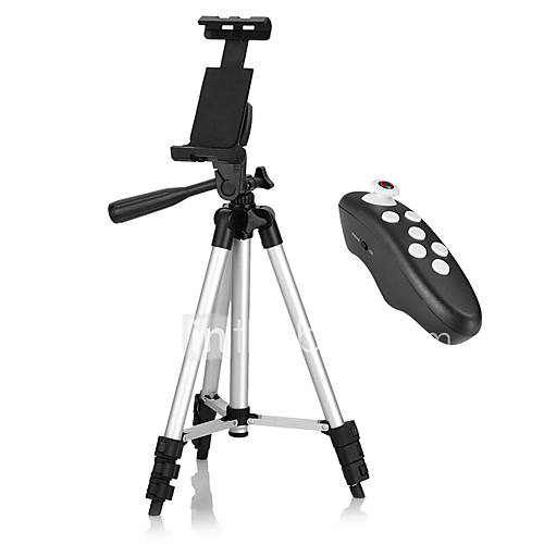 Tripod Bluetooth with Remote Control for iPhone / Android Smartphone / Tablet / iPad Use for Video Recording Pictures or Live Streaming