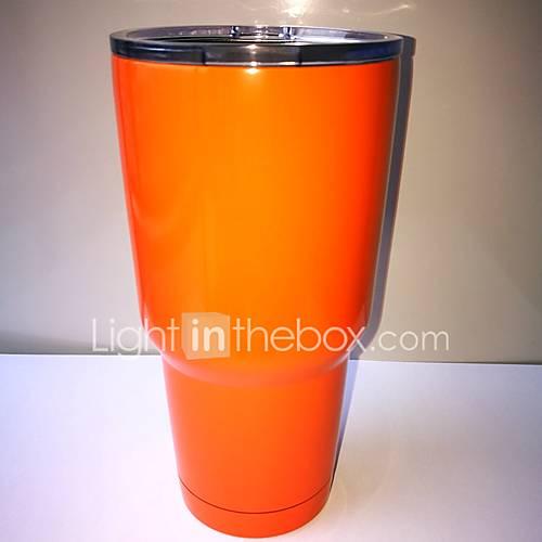 Rambler Tumbler 30oz Orange Powder Stainless Steel Cup Coated