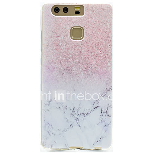 Case For Huawei P9 / Huawei P9 Lite / Huawei Honor V8 Transparent / Pattern Back Cover Marble Soft TPU for Huawei P9 Plus / Huawei P9 Lite / Huawei P9