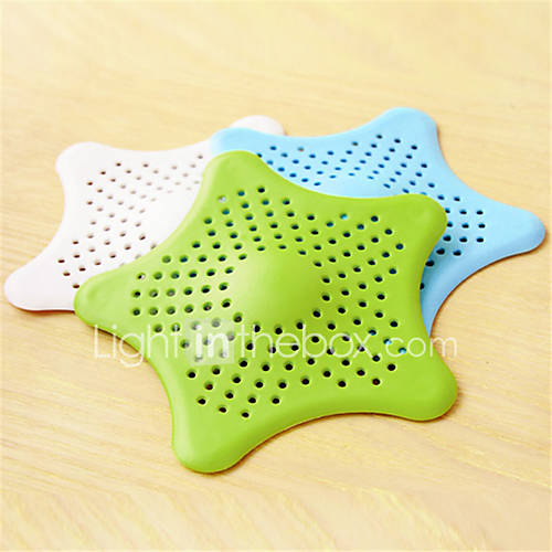Bathroom Hair Filter Starfish Floor Drain Kitchen Sink Bathtub Sewer Hair Stopper (Random Colours)