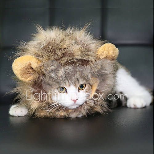 Cat Dog Costume Wig Dog Clothes Summer Animal Cute Cosplay Lion White Black Brown