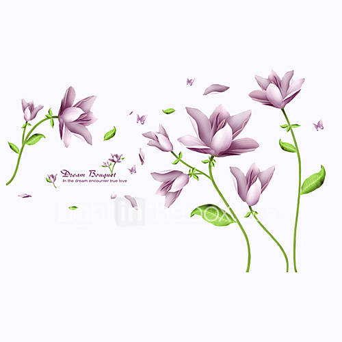 Decorative Wall Stickers - Plane Wall Stickers Fashion / Florals / Fantasy Living Room / Bedroom / Study Room / Office / Removable