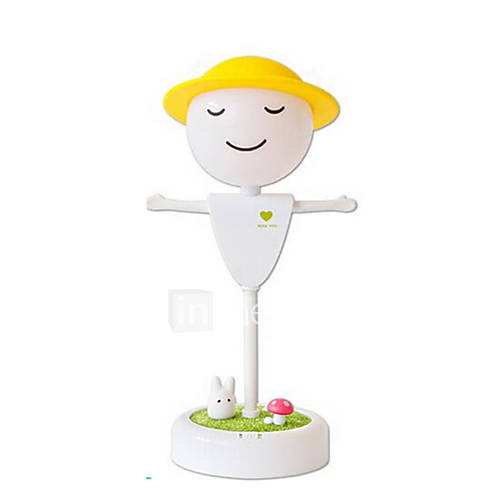 Rechargeable Paragraph Led Scarecrow Micro Landscape Touch Induction Night Light Creative Home