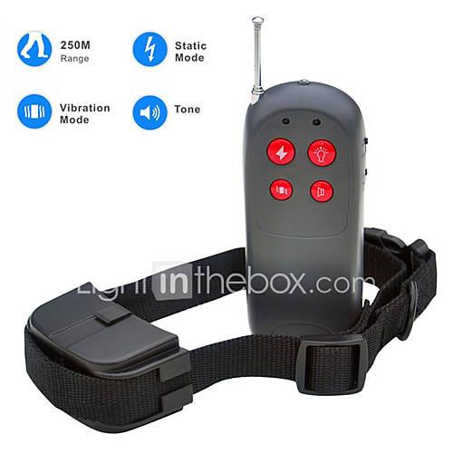 Dog Bark Collar / Dog Training Collars Anti Bark / Electronic/Electric / Shock/Vibration / Remote Control Solid Black Nylon