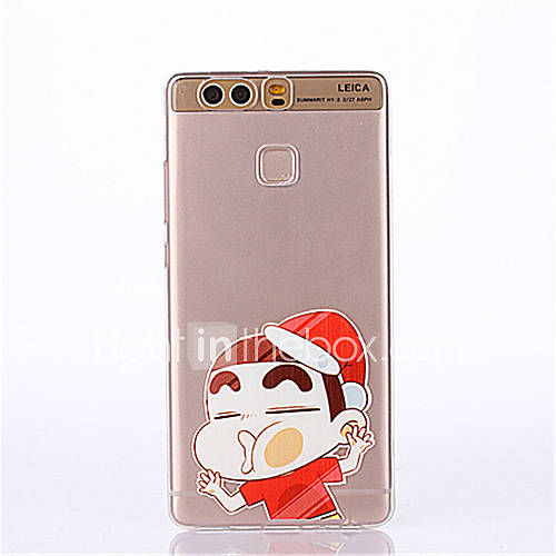 Cartoon Pattern Soft Ultra-thin TPU Back Cover for Huawei P9Plus P9Lite P9 P8lite P8