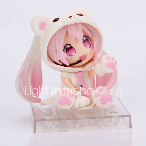 Cosplay Snow Small Miku PVC 14cm Anime Action Figures Model Toys Doll Toy Pink