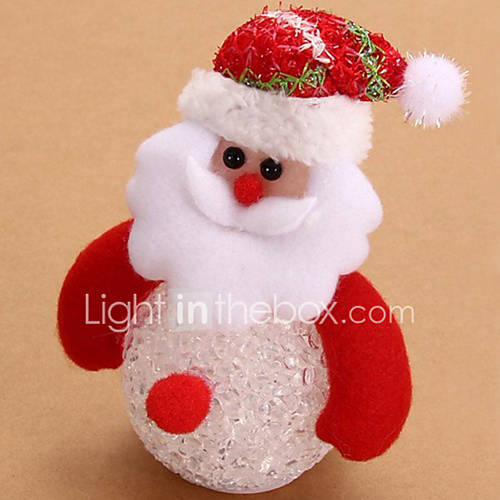 Lovely Snowman Santa Claus LED Night Light Desk Doll Christmas tree pendant decor Table Luminous Lamp Nightlight for Children(Style random)
