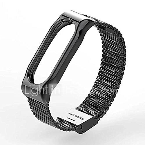 Mesh Wrist Blet Strap Wristband Bracelet Accessories With Metal Frame for Xiaomi Mi Band 2 Smart Watch Miband