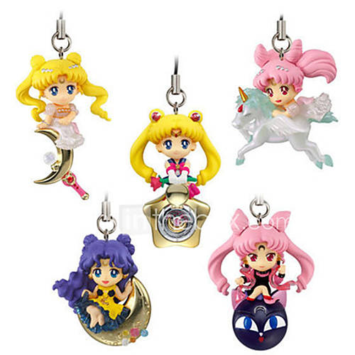 Sailor Moon Princess Serenity PVC 5cm Anime Action Figures Model Toys Doll Toy