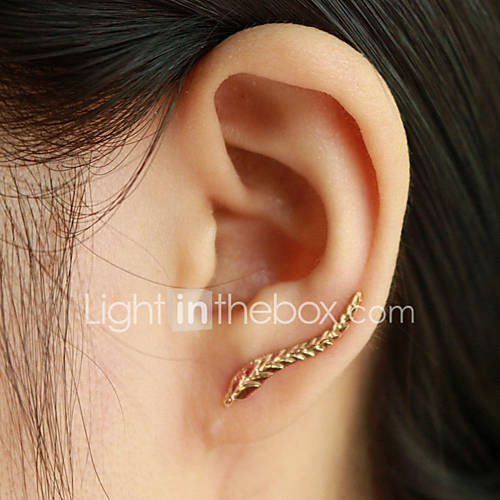 Mujer Pendientes cortos Puños del oído Moda Elegant joyería de disfraz Forma de Hoja Alas / Pluma Joyas Para Diario Casual