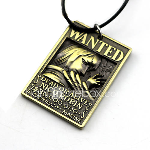 Inspired by One Piece Nico Robin Anime Cosplay Accessories Necklace Golden / Silver Alloy
