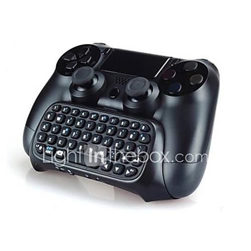 bluetooth mini-texto chatpad charla videoconsola mensaje teclado controlador inalámbrico para el regulador PS4 Descuento en Miniinthebox